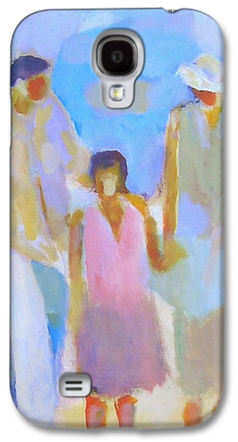 Abstract Galaxy S4 Case featuring the painting 3 With Love by Habib Ayat