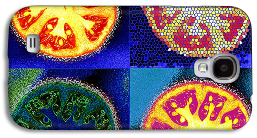 Tomatoes Galaxy S4 Case featuring the photograph 4 Abstract Tomatoes by Nancy Mueller