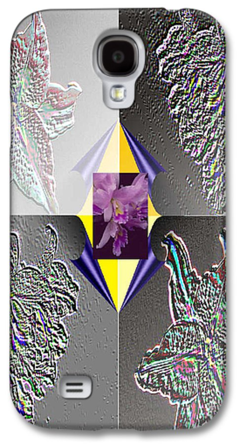 Florals Galaxy S4 Case featuring the digital art 4 Points Of Interest by Brenda L Spencer