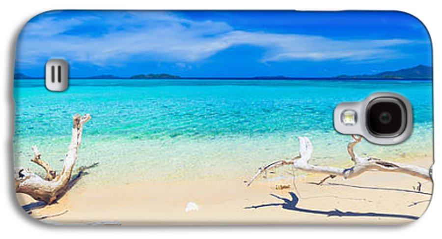 Sea Galaxy S4 Case featuring the photograph Tropical Beach Malcapuya by MotHaiBaPhoto Prints