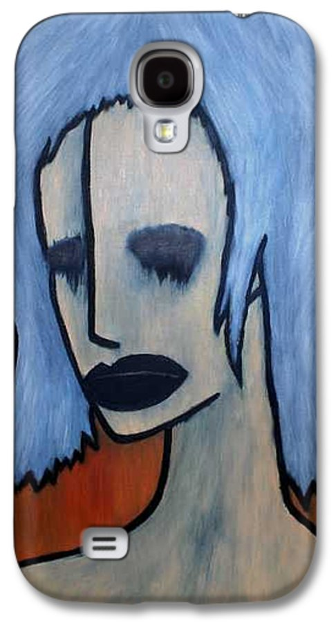 Potrait Galaxy S4 Case featuring the painting Halloween by Thomas Valentine
