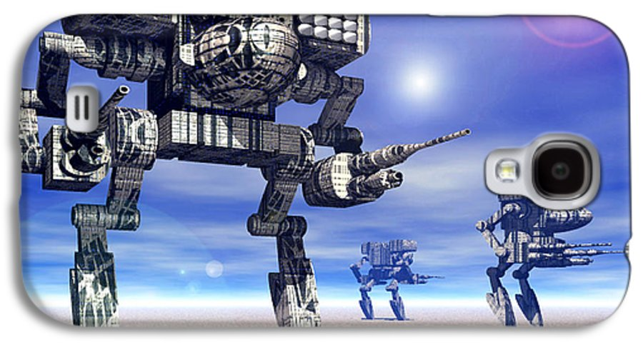 Science Fiction Galaxy S4 Case featuring the digital art 501st Mech Trinary by Curtiss Shaffer