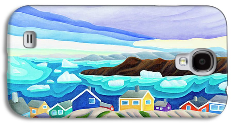 Arctic Landscape. Greenland Galaxy S4 Case featuring the painting 69 Degrees 13 Minutes North by Lynn Soehner