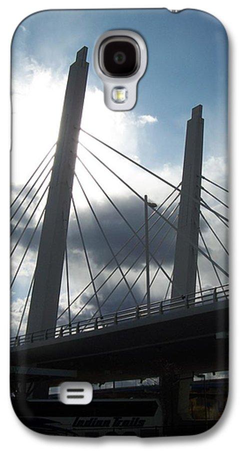 Bridge Galaxy S4 Case featuring the photograph 6th Street Bridge Backlit by Anita Burgermeister