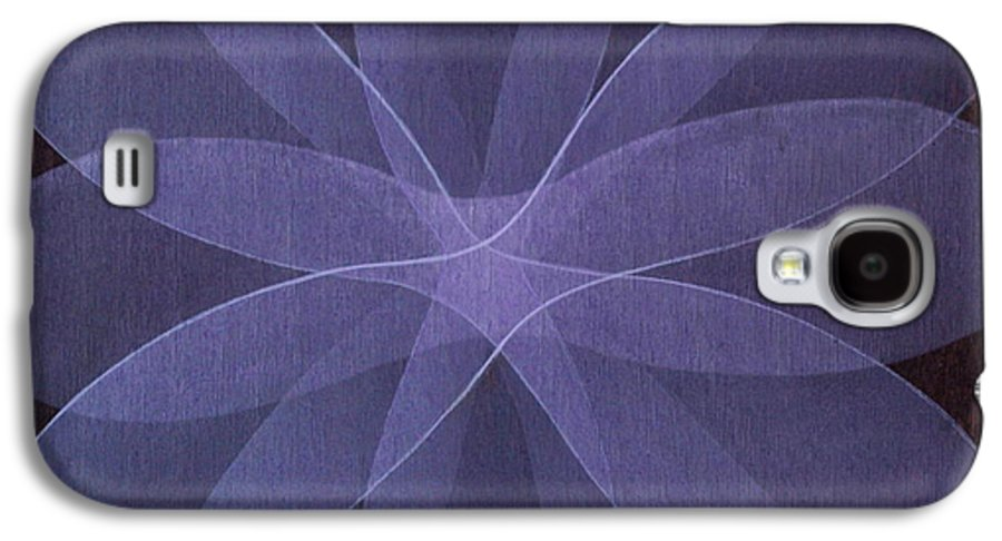 Abstract Galaxy S4 Case featuring the painting Abstract Flower by Jitka Anlaufova