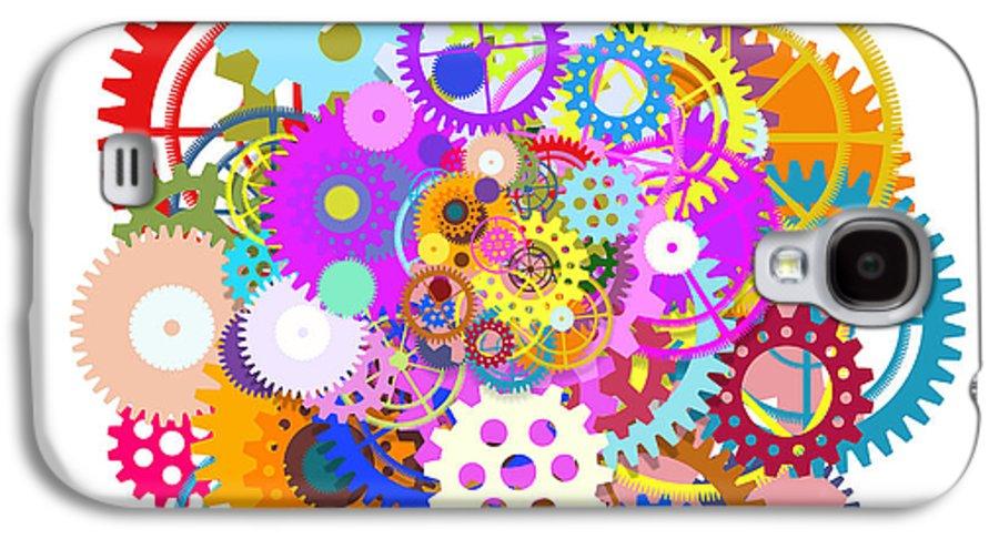 Art Galaxy S4 Case featuring the painting Gears Wheels Design by Setsiri Silapasuwanchai