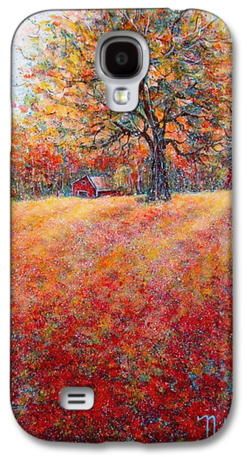 Autumn Landscape Galaxy S4 Case featuring the painting A Beautiful Autumn Day by Natalie Holland