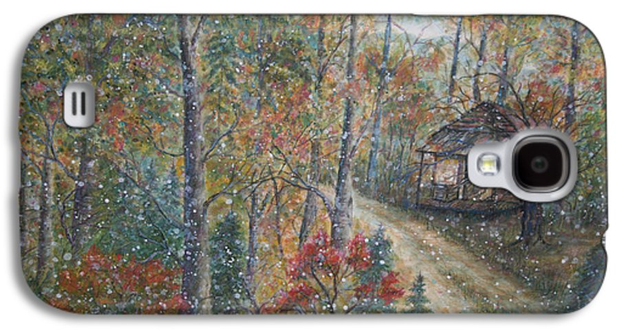 Country Road; Old House; Trees Galaxy S4 Case featuring the painting A Bend In The Road by Ben Kiger
