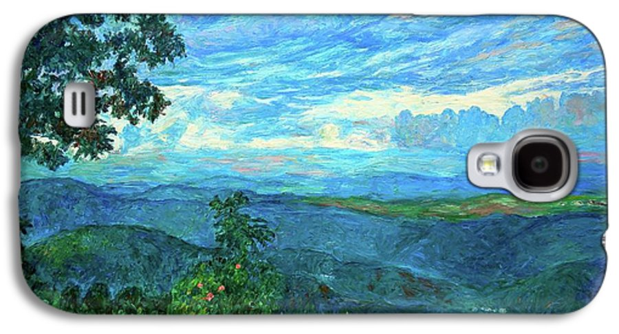 Mountains Galaxy S4 Case featuring the painting A Break In The Clouds by Kendall Kessler
