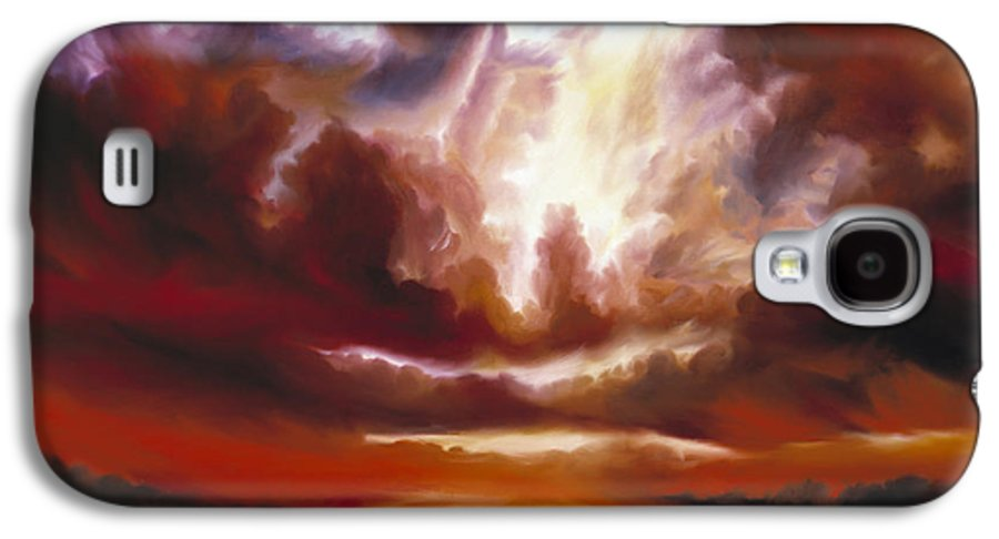 Tempest Galaxy S4 Case featuring the painting A Cosmic Storm - Genesis V by James Christopher Hill