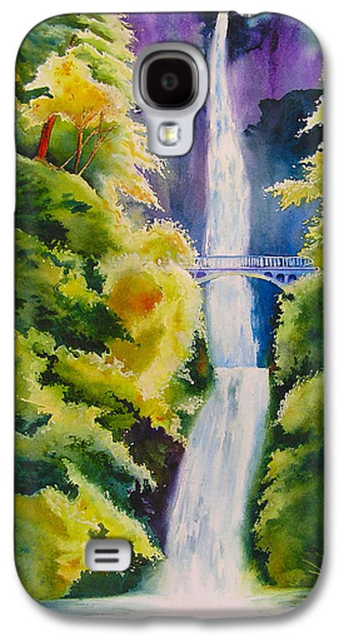 Waterfall Galaxy S4 Case featuring the painting A Favorite Place by Karen Stark