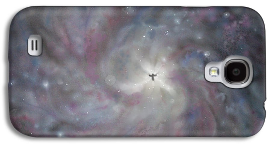 Space Galaxy S4 Case featuring the painting A Galaxy Centre by Mike Moss