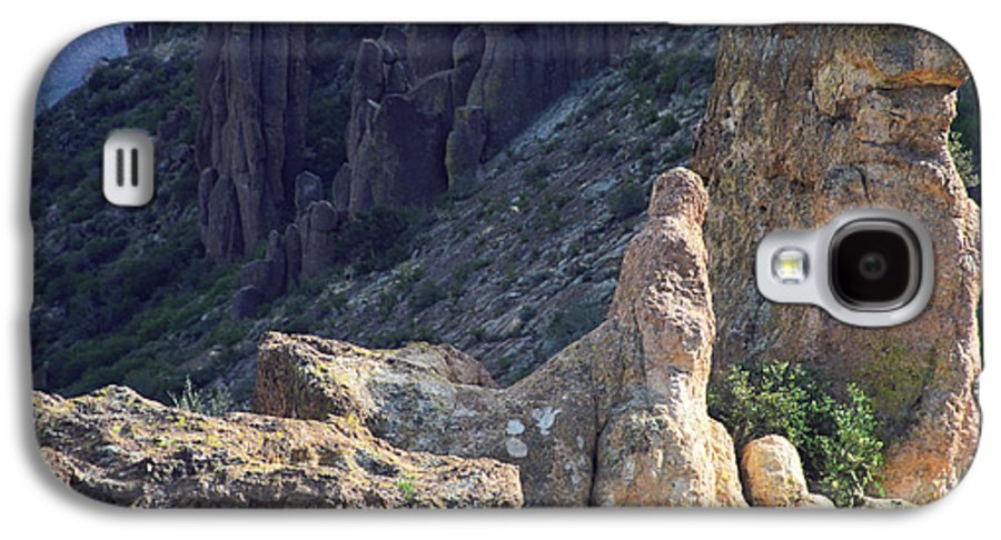 Rock Formations Galaxy S4 Case featuring the photograph A Hard Ride by Kathy McClure