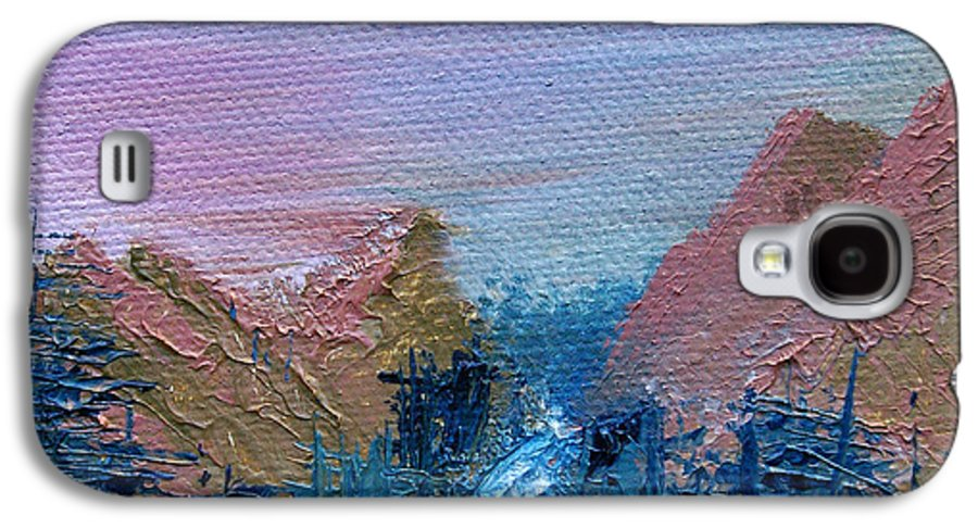 Canyon Galaxy S4 Case featuring the painting A Mighty River Canyon by Jera Sky