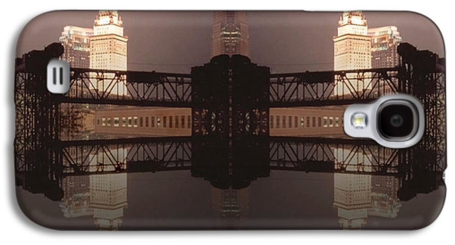 Cleveland Galaxy S4 Case featuring the photograph A Mirror Image Reflection by Kenneth Krolikowski