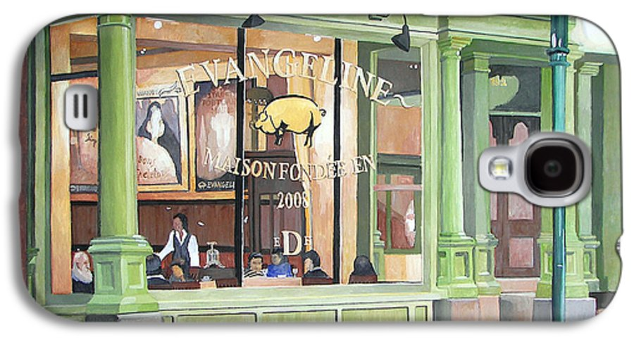 Restaurant Galaxy S4 Case featuring the painting A Night At Evangeline by Dominic White