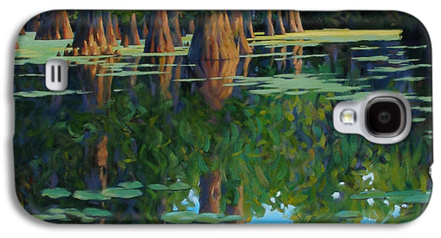 Swamp Galaxy S4 Case featuring the painting A Patch Of Blue by Kevin Lawrence Leveque