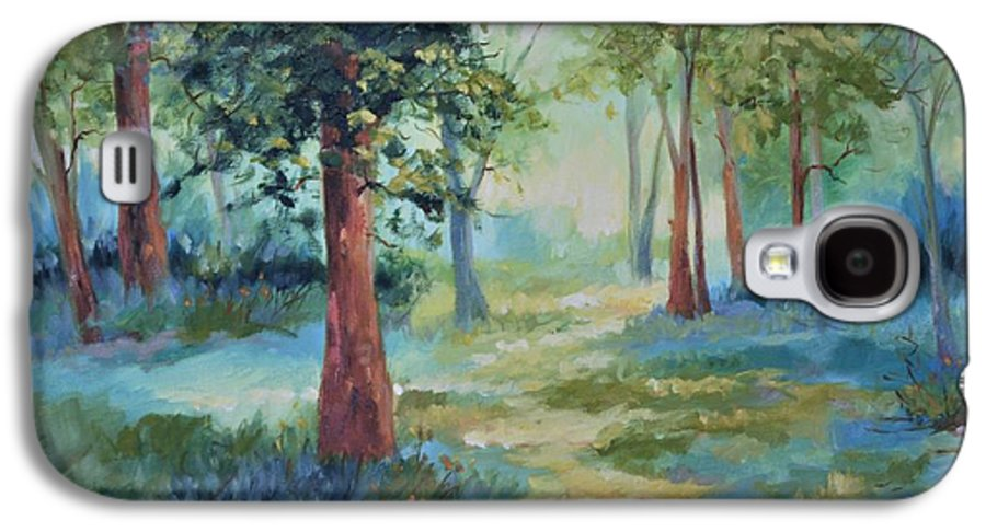 Trees Galaxy S4 Case featuring the painting A Path Not Taken by Ginger Concepcion