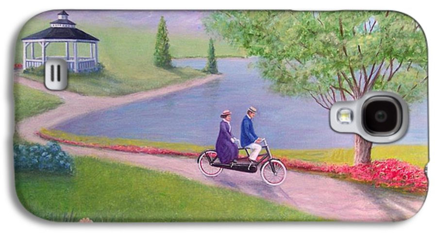 Landscape Galaxy S4 Case featuring the painting A Ride In The Park by William H RaVell III