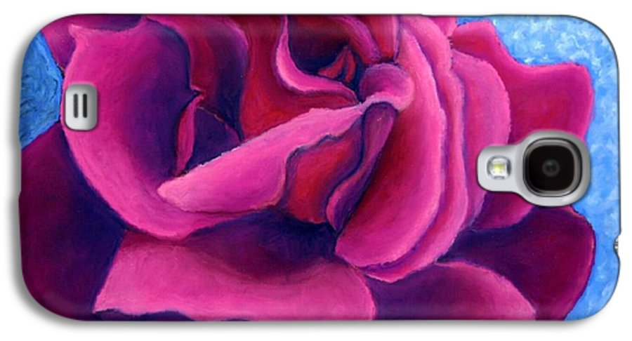 Rose. Pink Rose Galaxy S4 Case featuring the painting A Rose Is A Rose.. by Minaz Jantz