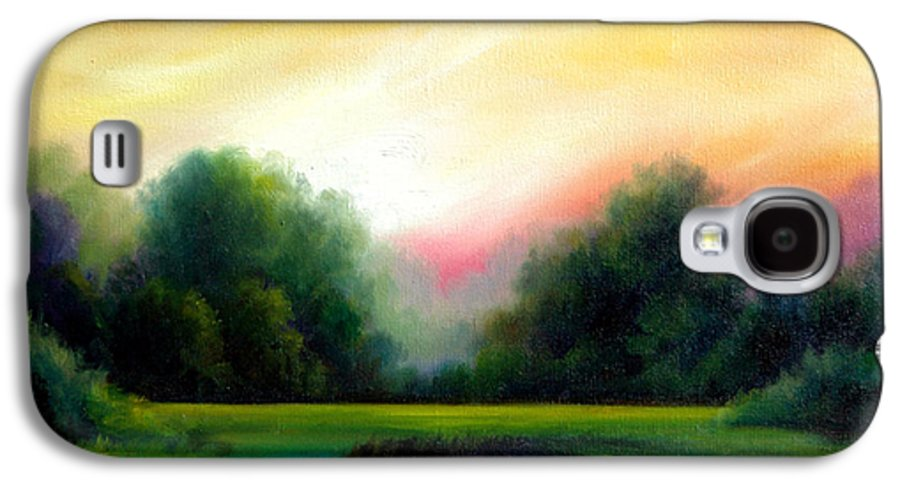 Clouds Galaxy S4 Case featuring the painting A Spring Evening by James Christopher Hill
