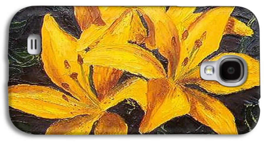 Galaxy S4 Case featuring the painting A Touch Of Gold by Tami Booher