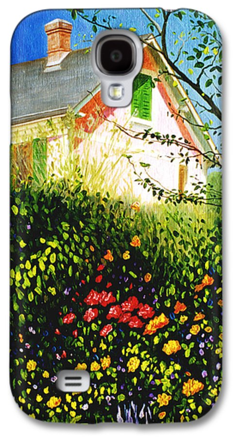 Monets House Galaxy S4 Case featuring the painting A View Of Monets House In Giverny France by Gary Hernandez