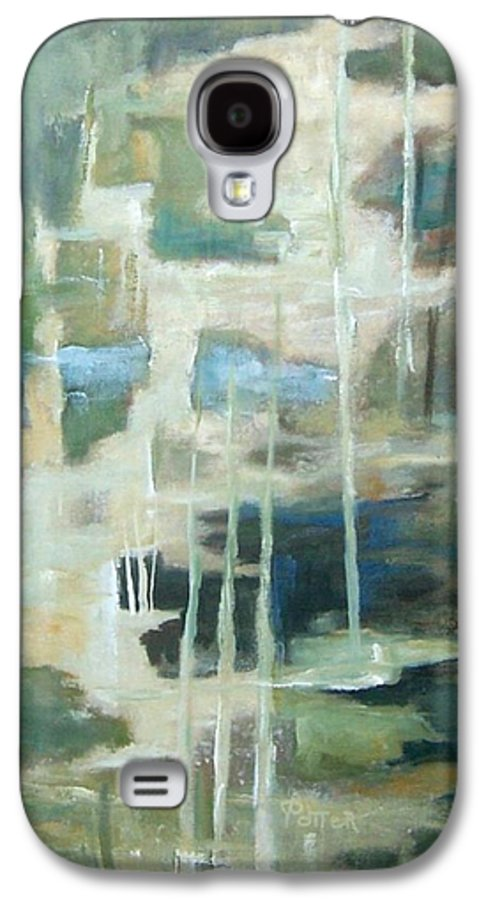 Abstract Galaxy S4 Case featuring the painting A Walk In The Woods by Virginia Potter