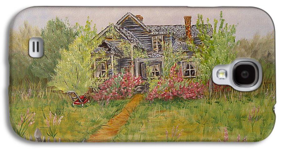 Landscape Galaxy S4 Case featuring the painting Abandoned House by Quwatha Valentine