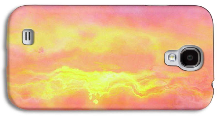 Abstract Art Galaxy S4 Case featuring the mixed media Above The Clouds - Abstract Art by Jaison Cianelli