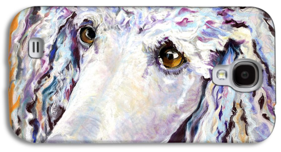Standard Poodle Galaxy S4 Case featuring the pastel Above The Standard  by Pat Saunders-White