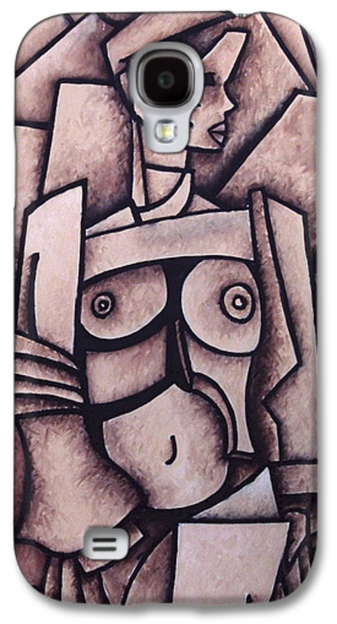Absract Galaxy S4 Case featuring the painting Absract Girl by Thomas Valentine