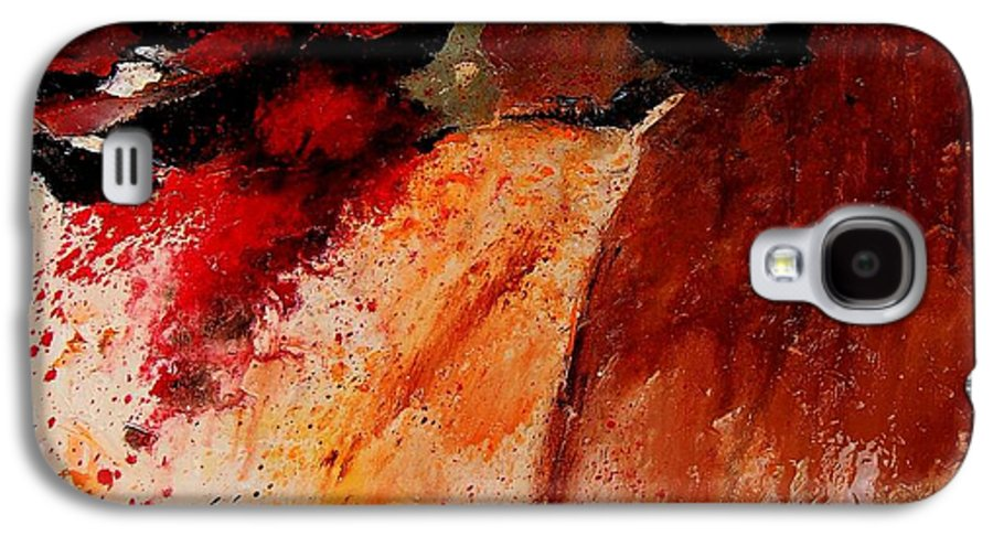 Abstract Galaxy S4 Case featuring the painting Abstract 010607 by Pol Ledent