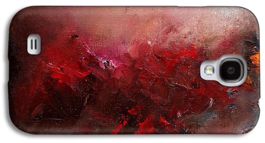 Abstract Galaxy S4 Case featuring the painting Abstract 056 by Pol Ledent