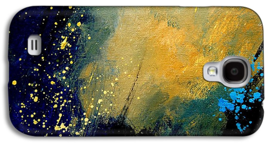 Abstract Galaxy S4 Case featuring the painting Abstract 061 by Pol Ledent