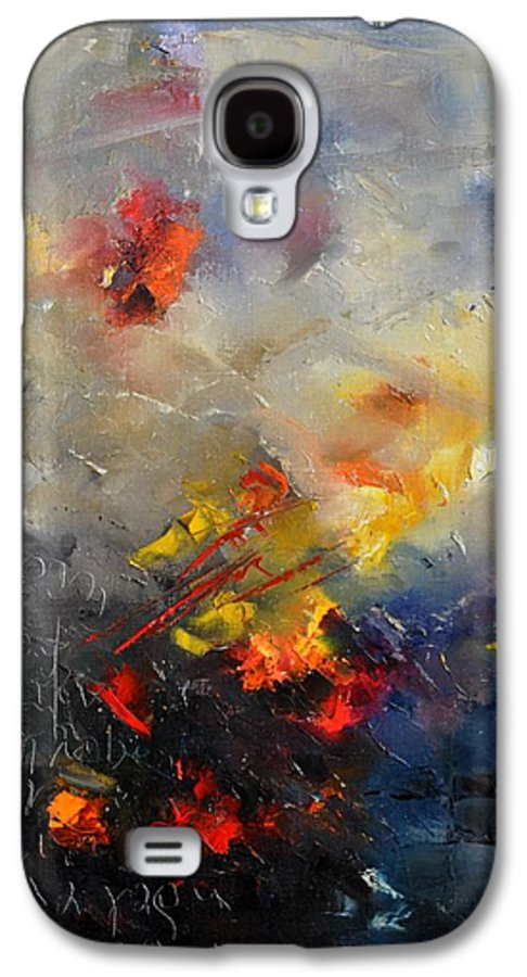 Abstract Galaxy S4 Case featuring the painting Abstract 0805 by Pol Ledent