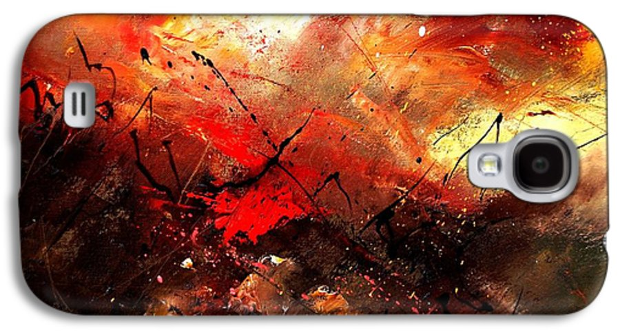 Abstract Galaxy S4 Case featuring the painting Abstract 100202 by Pol Ledent