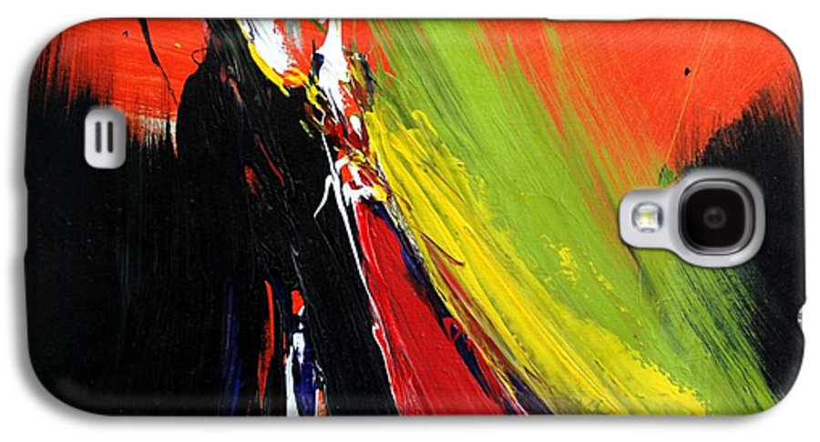 Abstract Galaxy S4 Case featuring the painting Abstract 2002 by Mario Zampedroni