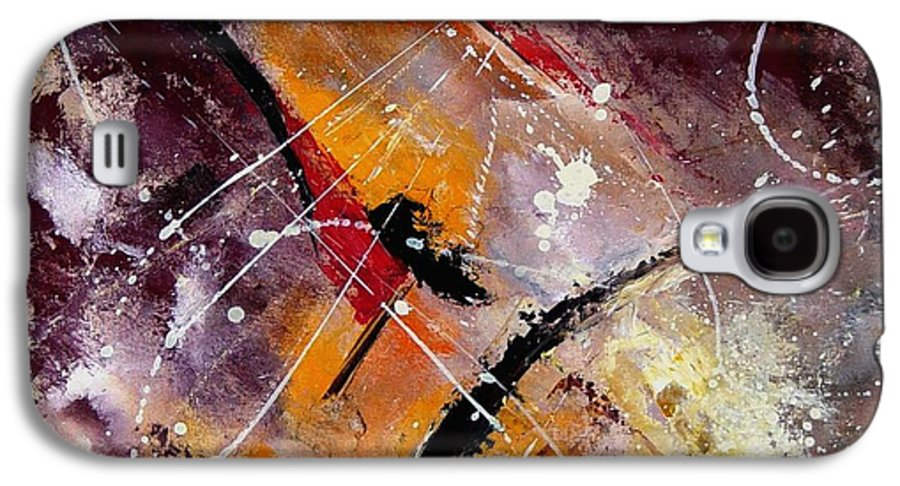 Abstract Galaxy S4 Case featuring the painting Abstract 45 by Pol Ledent