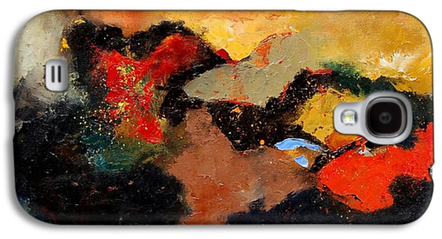 Abstract Galaxy S4 Case featuring the painting Abstract 8080 by Pol Ledent