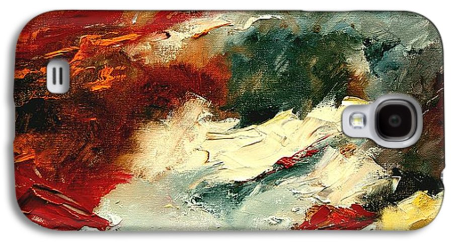 Abstract Galaxy S4 Case featuring the painting Abstract 9 by Pol Ledent