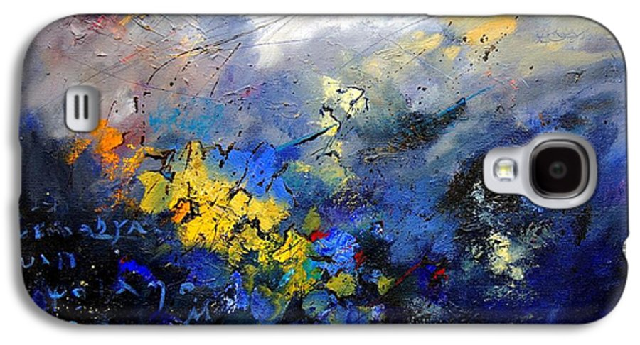 Abstract Galaxy S4 Case featuring the painting Abstract 970208 by Pol Ledent