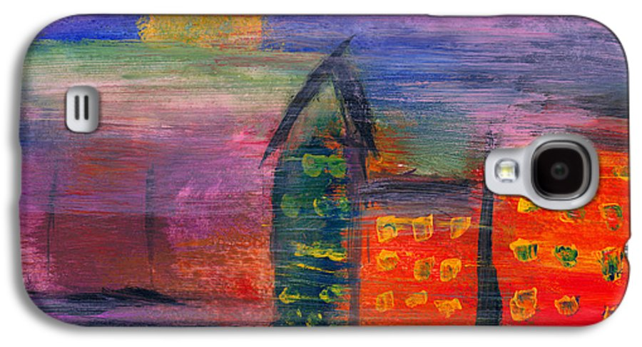 Abstract Galaxy S4 Case featuring the photograph Abstract - Acrylic - Lost In The City by Mike Savad