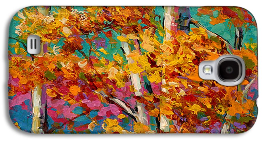 Trees Galaxy S4 Case featuring the painting Abstract Autumn IIi by Marion Rose