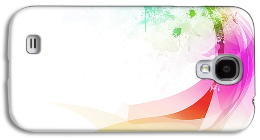 Abstract Galaxy S4 Case featuring the painting Abstract Colorful Curved by Setsiri Silapasuwanchai