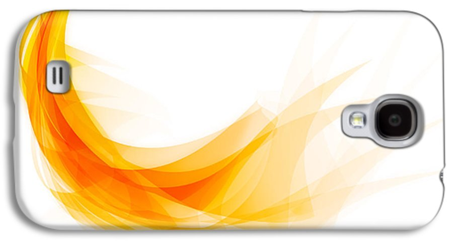 Abstract Galaxy S4 Case featuring the painting Abstract Feather by Setsiri Silapasuwanchai