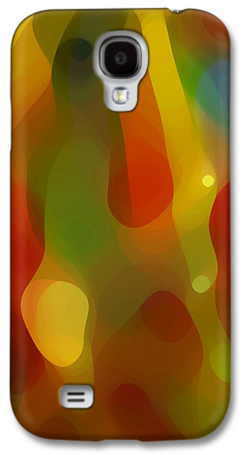 Abstract Art Galaxy S4 Case featuring the painting Abstract Flowing Light by Amy Vangsgard