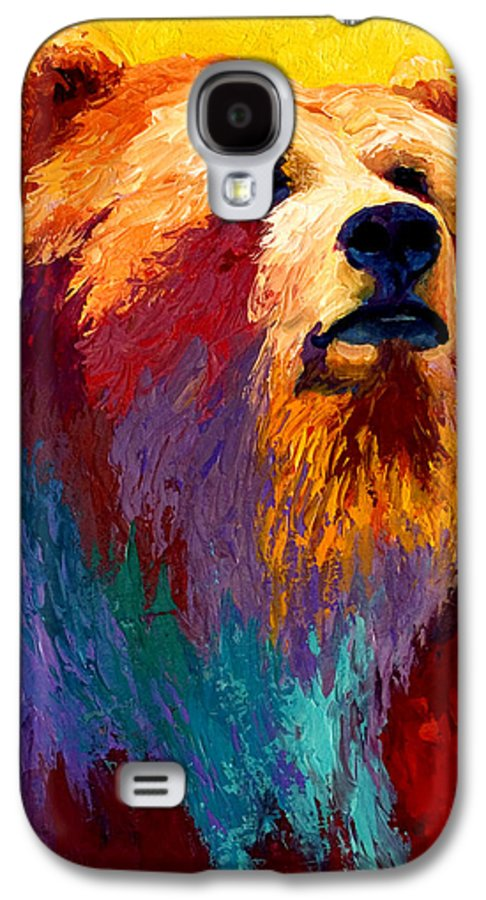 Western Galaxy S4 Case featuring the painting Abstract Grizz by Marion Rose