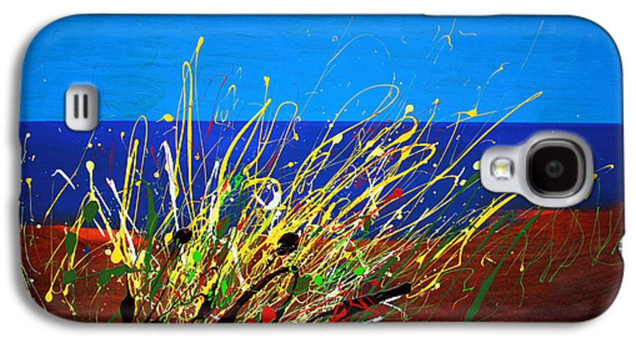 Ibiza Galaxy S4 Case featuring the painting Abstract Ibiza by Mario Zampedroni