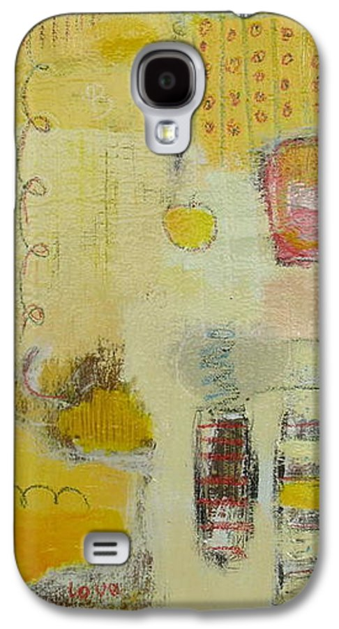 Abstract Galaxy S4 Case featuring the painting Abstract Life 1 by Habib Ayat